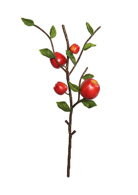 Vickerman Green and Red Country Apples Spray