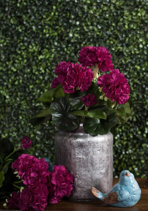 Purple Polyester Geranium Bush