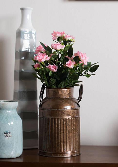 Vickerman Light Pink Mini Diamond Rose Bush