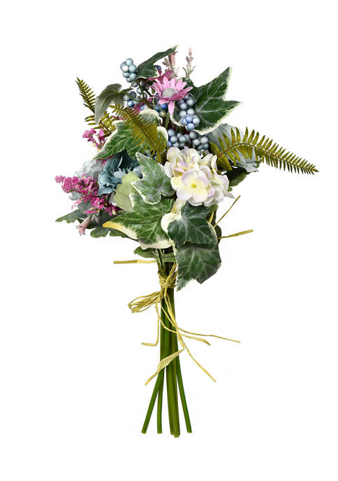 Vickerman Rose and Hydrangea Purple Bouquet