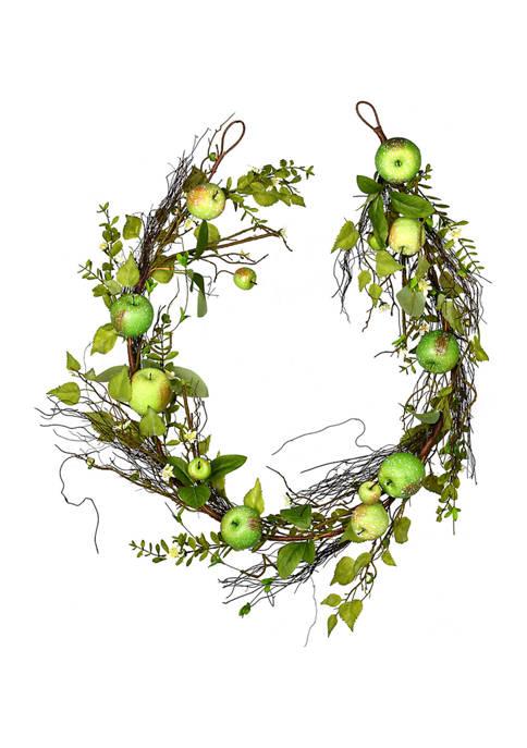 Vickerman Green Apples Mixed Twig Garland