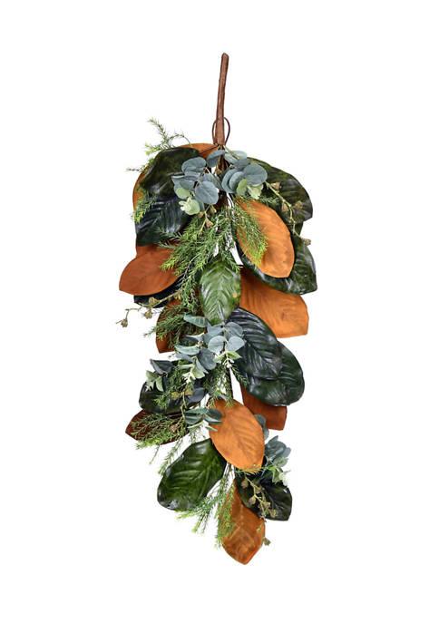 Vickerman Green Magnolia Leaf Swag