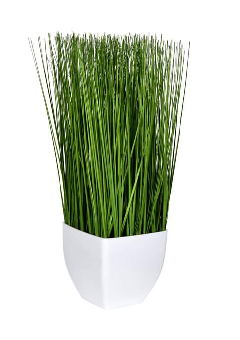 Vickerman Green Potted Grass