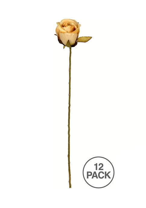 Mustard Rose Stem - Set of 12