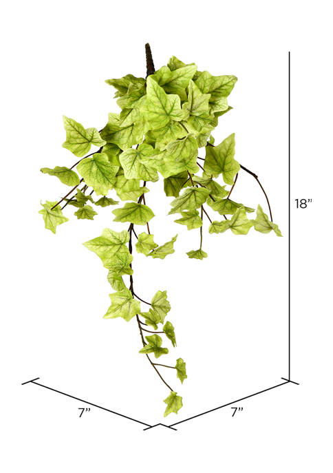 Vickerman Light Green Ivy Hanging Bush