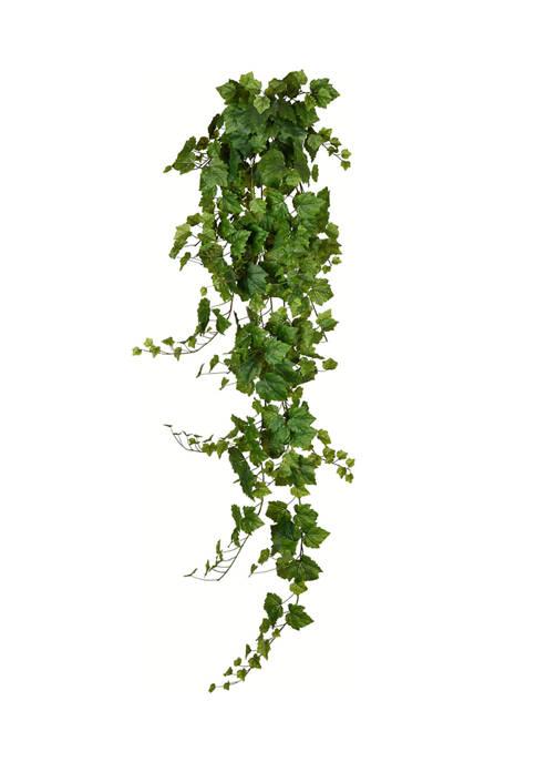 Vickerman Green Grape Leaf Ivy Hanging Bush