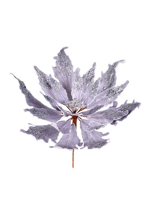 Vickerman Poinsettia Pick