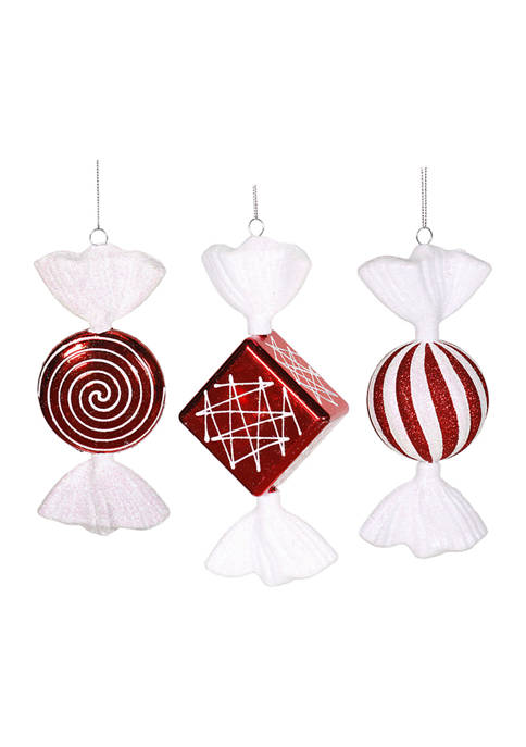 Peppermint Candy Ornament Set