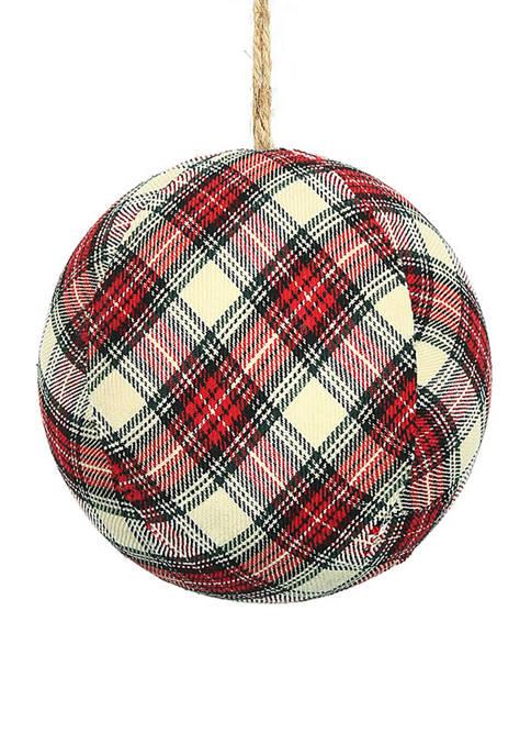 Vickerman Plaid Ball Ornament