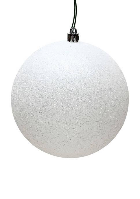 Vickerman White Glitter Ornament