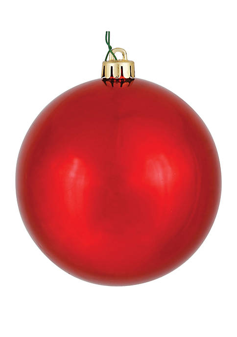 Vickerman 4.75 Red Shiny Ball Christmas Ornament Set