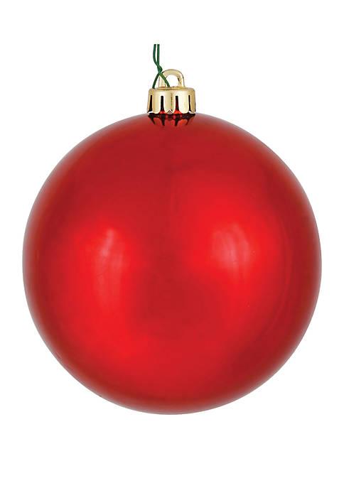 Vickerman 6 Red Shiny Ball Christmas Ornament Set