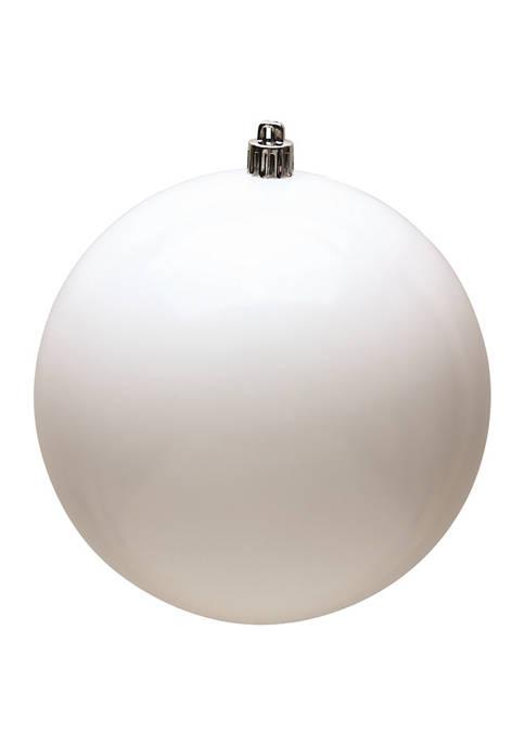 Vickerman Shiny White Ball Ornaments