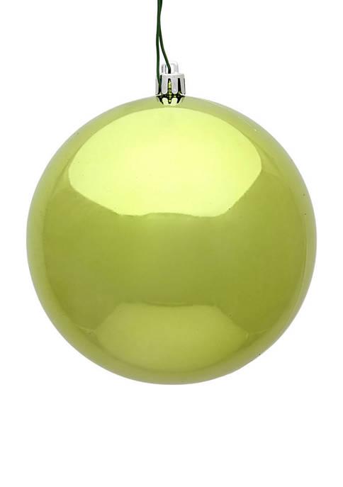 Vickerman Shiny Lime Green Ball Ornaments