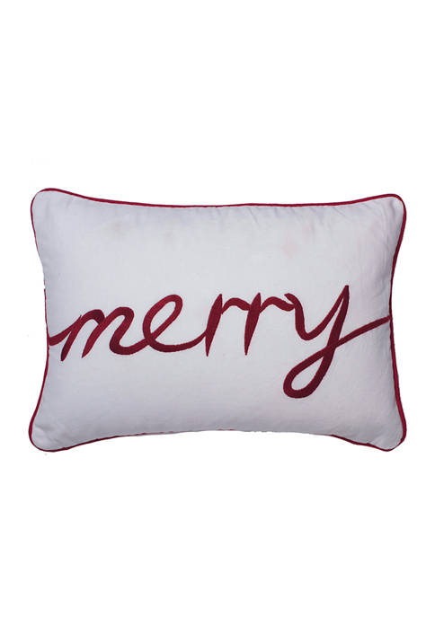 Vickerman Decorative 14 Inch Merry Pillow
