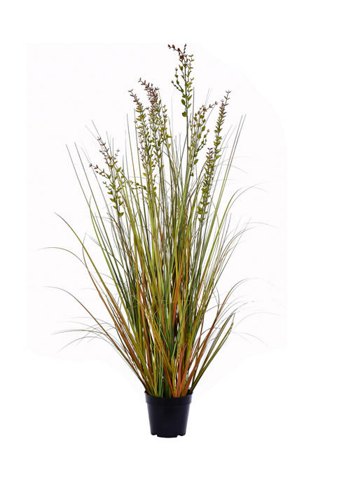 Vickerman Potted Green and Brown Grass