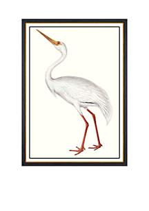 White Crane Archival Framed Art Print