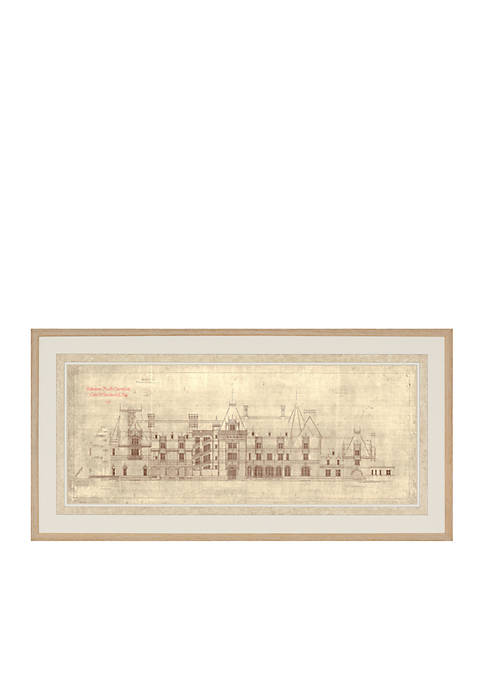 Biltmore® Façade of Biltmore House Archival Framed Art