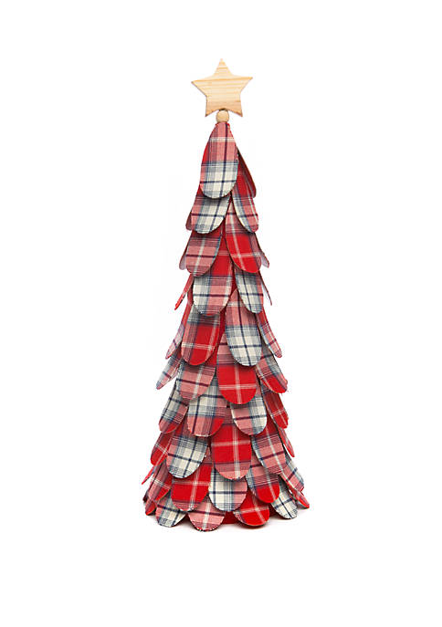 Woodland Winter Large Plaid Cone Tree
