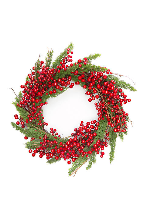 Woodland Winter Red Berry Wreath