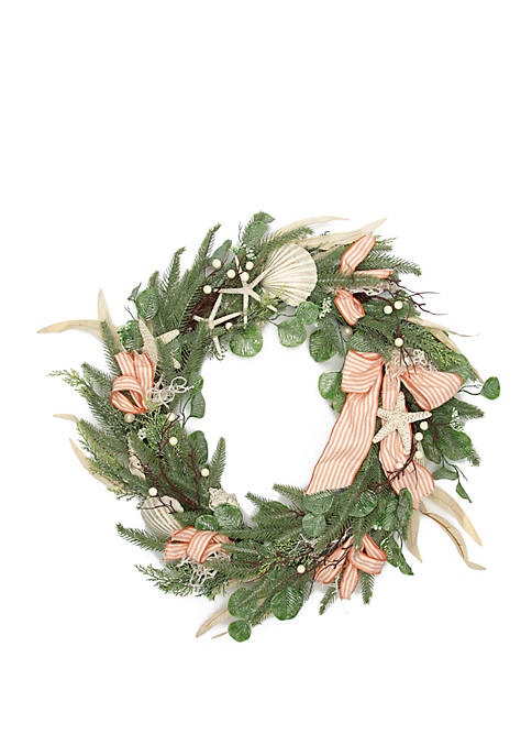 Seas & Greetings Coastal Wreath