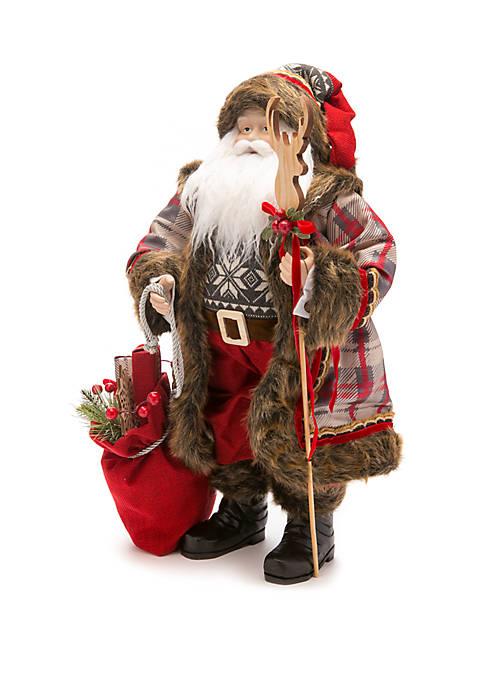 Woodland Winter Wooden Santa