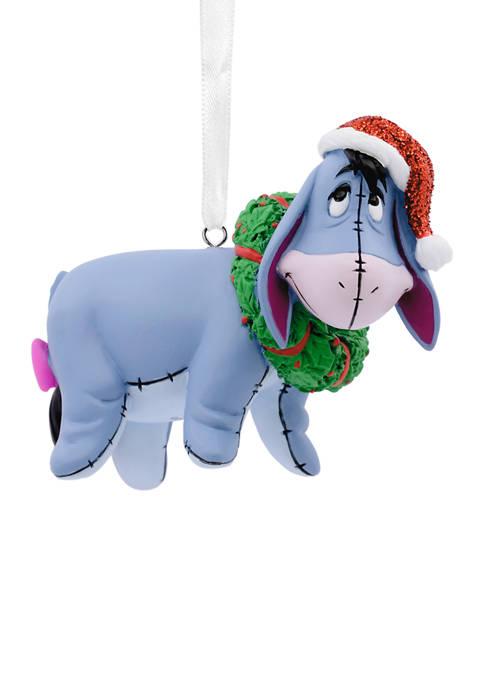 Disney Winnie the Pooh Eeyore with Wreath Christmas Ornament
