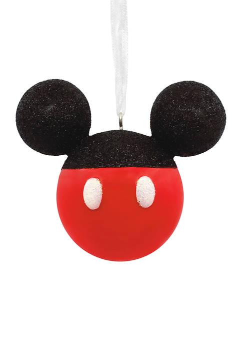 Hallmark Disney Mickey Mouse Glittery Icon Christmas Ornament