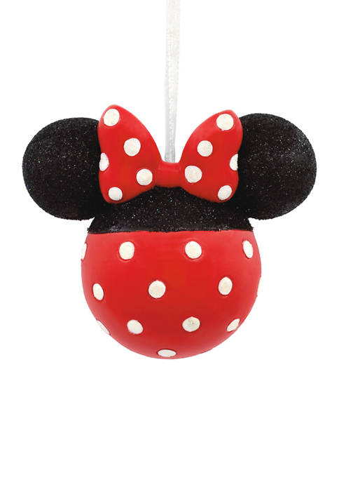 Disney Minnie Mouse Glittery Icon Christmas Ornament