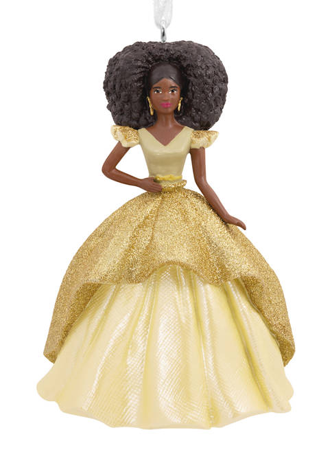 Mattel African-American Holiday Barbie 2020 Christmas Ornament