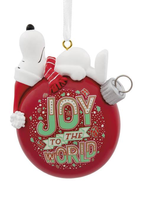 Peanuts Snoopy Joy to the World Christmas Ornament