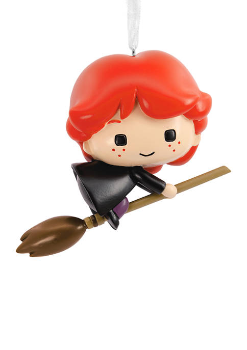 Harry Potter Ron on Broomstick Christmas Ornament
