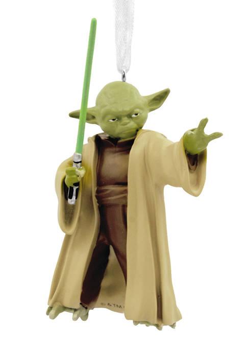Star Wars Yoda with Lightsaber Christmas Ornament
