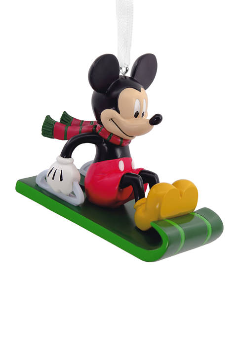 Disney Mickey Mouse on Sled Christmas Ornament