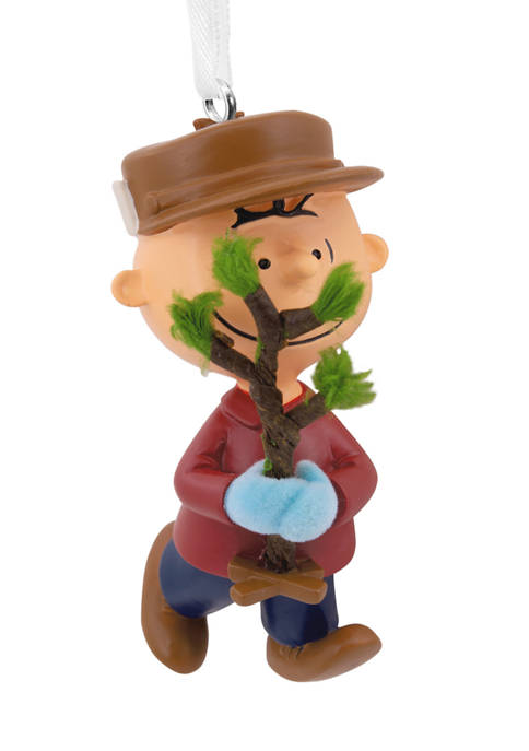Peanuts Charlie Brown with Tree Christmas Ornament