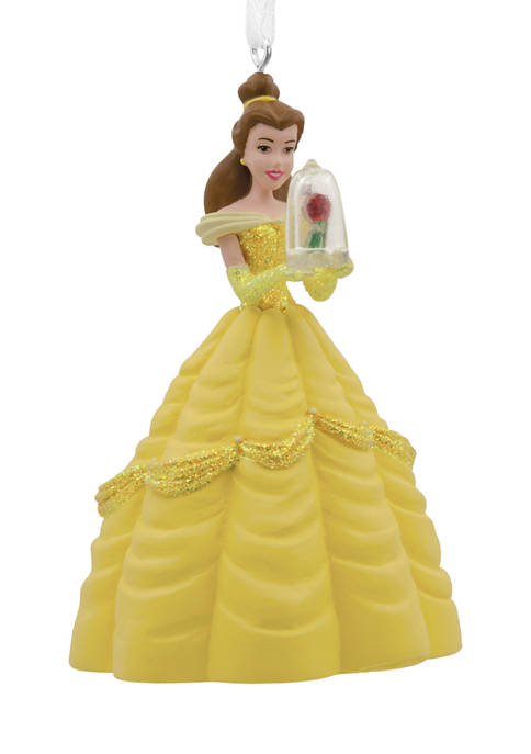 Disney Belle with Enchanted Rose Christmas Ornament