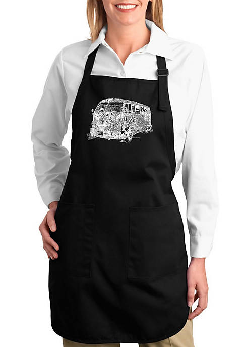 Full Length Word Art Apron - The 70s