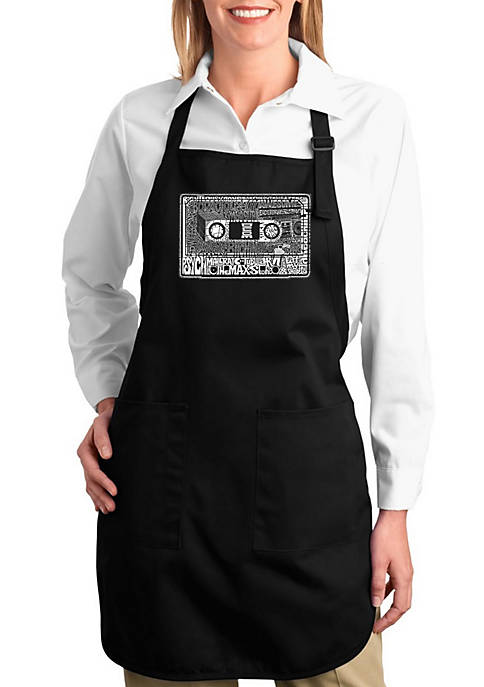 Full Length Word Art Apron - The 80s