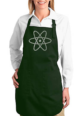 Full Length Word Art Apron - Atom