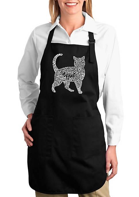 Full Length Word Art Apron - Cat