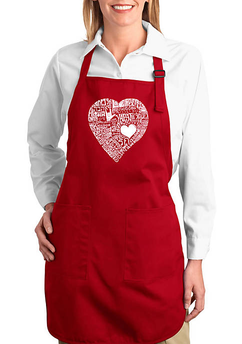 Full Length Word Art Apron -  Love in 44 Different Languages