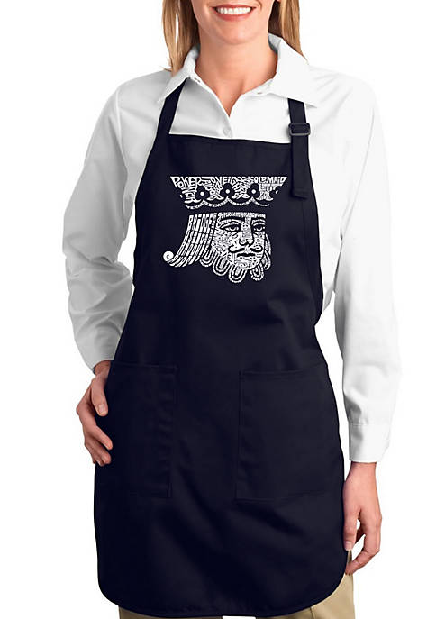 Full Length Word Art Apron - King of Spades