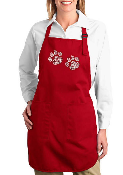 Full Length Word Art Apron - Meow Cat Prints