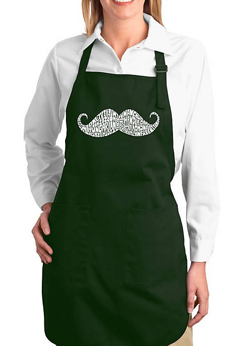 Full Length Word Art Apron - Ways To Style A Mustache