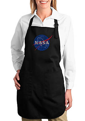 Full Length Word Art Apron - NASAs Most Notable Missions