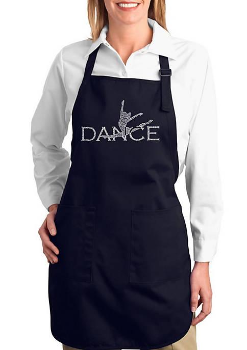 Full Length Word Art Apron - Dancer