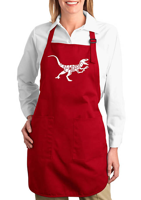 Full Length Word Art Apron - Velociraptor