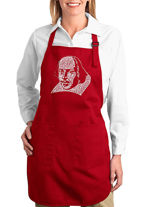 Full Length Word Art Apron -The Titles of All of William Shakespeares Comdies & Tragedies
