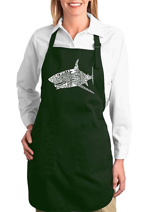 Full Length Word Art Apron -  Species of Shark