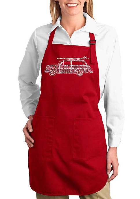 LA Pop Art Full Length Word Art Apron
